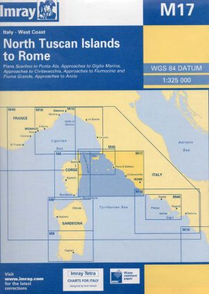 CARTA IMRAY M17 NORTH TUSCAN ISLANDS TO ROME