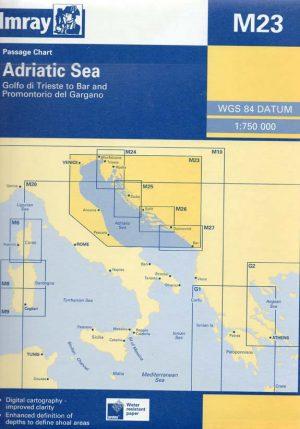 CARTA IMRAY M23 ADRIATIC SEA