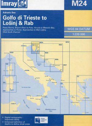 CARTA IMRAY M24 GOLFO DI TRIESTE TO LONSINJ & RAB