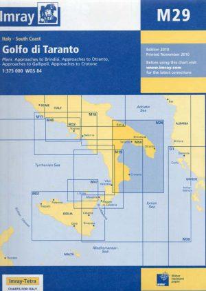 CARTA IMRAY M29 GOLFO DI TARANTO
