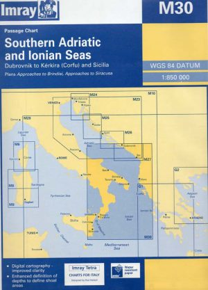 CARTA IMRAY M30 SOUTHERN ADRIATIC AND IONIAN SEAS