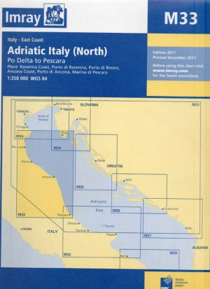 CARTA IMRAY M33 ADRIATIC ITALY (NORTH)