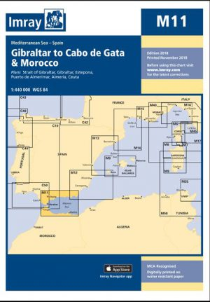 CARTA IMRAY M11 GIBRALTAR TO CABO DE GATA AND MOROCCO