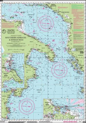 CARTA IMRAY M30 SOUTHERN ADRIATIC AND IONIAN SEAS